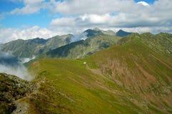 Piękna halna lato sceneria fagaras góry Romania Fotografia Royalty Free