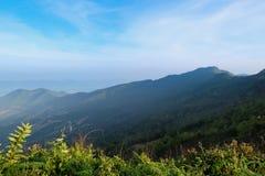 Piękna halna sceneria w Chiang Raja, Tajlandia Obraz Stock