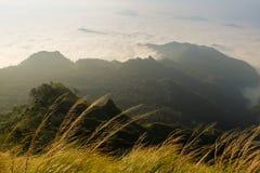 Piękna halna sceneria w Chiang Raja, Tajlandia Obrazy Stock