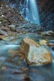 Piękna halna siklawa Huk w Carpathians Obraz Royalty Free