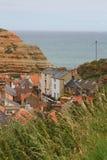Piękna harbourside wioska, North Yorkshire Obrazy Stock