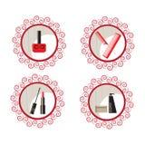 Piękna i makeup ikony Zdjęcie Royalty Free