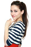 piękna jaskrawy kolorowa smokingowa dziewczyna Zdjęcie Royalty Free