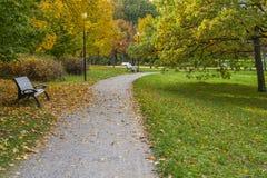 Piękna jesienna sceneria Obrazy Royalty Free