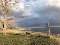 Piękna jezioro strona Fotografia Royalty Free