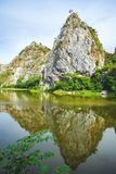 Piękna kamienna góra Zdjęcia Royalty Free