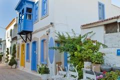 Piękna Kamienna ulica w Alaçati Zdjęcie Royalty Free