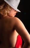 piękna kapeluszowi kobiety potomstwa Zdjęcie Stock