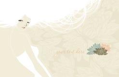 piękna karciana dziewczyna ilustracji