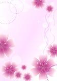 Piękna karta z kwiecistym ornamentem Obraz Royalty Free
