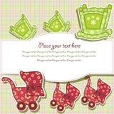 Piękna karta z setem dla dziecka Zdjęcie Royalty Free