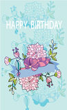 Piękna karta z urodziny Obraz Stock