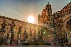 Piękna katedra Palermo, Sicily Obrazy Stock