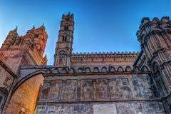 Piękna katedra Palermo, Sicily Obraz Royalty Free