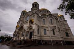 Piękna katedra w deszczowym dniu Fotografia Royalty Free