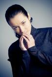 piękna kluczowa niska portreta studia kobieta Zdjęcia Stock