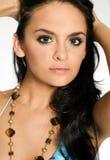 piękna kobieta brunetki fotografia royalty free