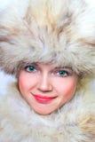 piękna kobieta futra, Obraz Royalty Free