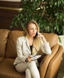 piękna kobieta jednostek gospodarczych Zdjęcia Stock