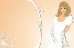 piękna kobieta kwiat Zdjęcia Royalty Free