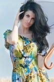piękna kobieta parasolowa Fotografia Stock