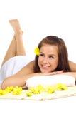 piękna kobieta spa Zdjęcia Royalty Free