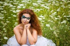 Piękna kobieta sztuka portret Zdjęcie Stock