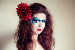 Piękna kobieta sztuka portret Fotografia Stock