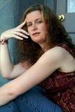 Piękna kobieta w Przypadkowej sukni Obraz Royalty Free