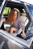 Piękna kobieta w samochodzie Obraz Royalty Free
