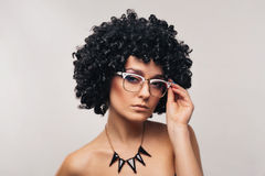 Piękna kobieta z eyeglasses Obraz Stock