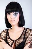 Piękna kobieta z mody makeup Zdjęcie Royalty Free