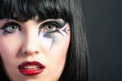 Piękna kobieta z mody makeup Zdjęcie Stock
