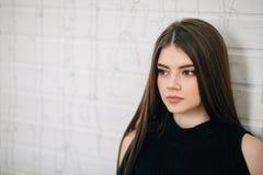 Piękna kobiety portret nastoletnia dziewczyna Obrazy Royalty Free