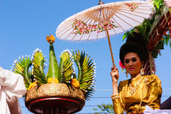 Piękna kobiety Tajlandia kultura Zdjęcie Stock
