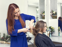 piękna konceptualna fotografii salonu kobieta Zdjęcie Stock