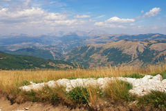 piękna krajobrazowa góry balkans Montenegro, Krnovo Zdjęcia Royalty Free