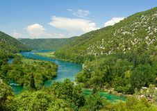 piękna krajobrazowa rzeczna scena Fotografia Stock