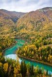 piękna krajobrazowa rzeka Obrazy Royalty Free