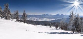 piękna krajobrazowa zima Obrazy Stock