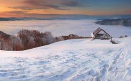 piękna krajobrazowa zima Fotografia Royalty Free