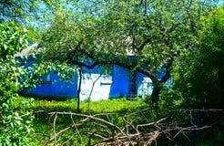 piękna krajobrazu domu ogródu wioska Zdjęcia Stock