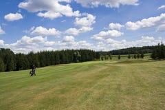 piękna kursu golfa green Fotografia Royalty Free