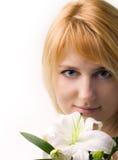 piękna kwiat dziewczyny leluja Fotografia Stock