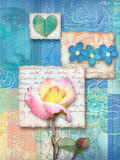 Piękna kwiecista pocztówka Fotografia Royalty Free