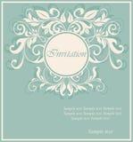 Piękna kwiecista zaproszenie karta Fotografia Stock