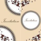 Piękna kwiecista zaproszenie karta z kwiatami royalty ilustracja
