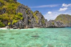Piękna laguna blisko El Nido, Palawan -, Filipiny Zdjęcia Royalty Free