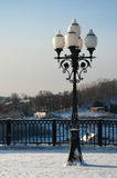 piękna lampowa ulica Obraz Royalty Free