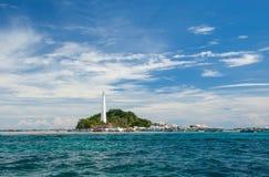 Piękna Lengkuas wyspa Belitong Fotografia Royalty Free